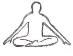 Yoga breathing techniques in the lotus position
