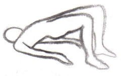 breathing exercise in yoga while lying down