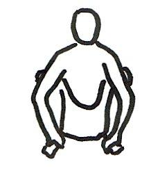 Vayuasana or nishkasana squat position